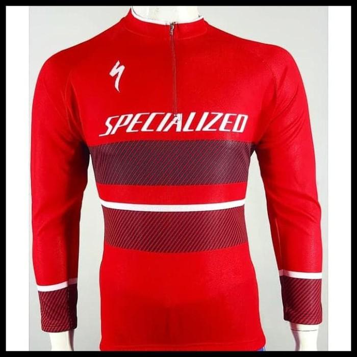 Foto Produk Flash Deal Baju Jersey Sepeda Balap Panjang Specialized Stok Terbatas dari Elyawati Retail