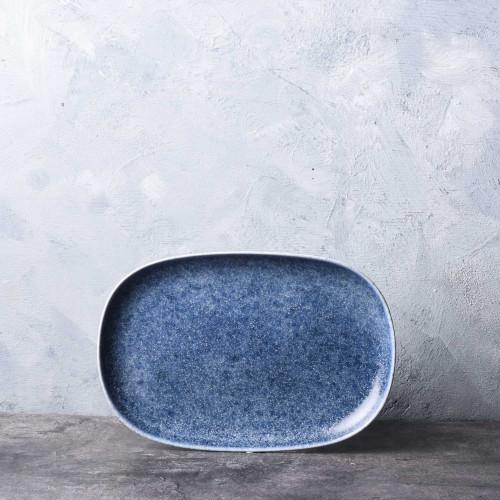 """Foto Produk Ravenna Blue Small Platter 8"""" / Piring Makan Keramik Jepang Unik dari Brewsuniq"""