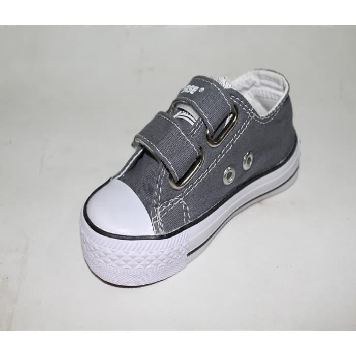 Jual Sepatu Anak Sepatu Converse All Star Kids Abu Tanpa Tali