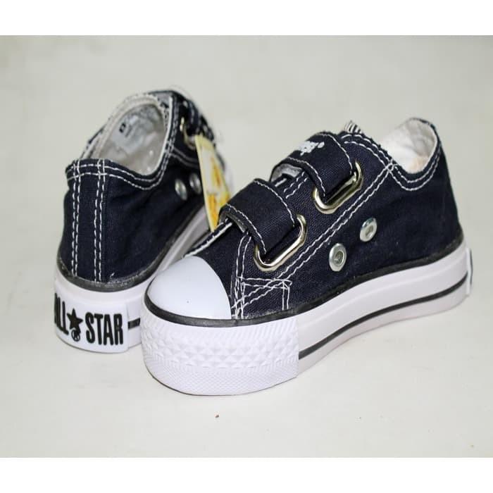 Jual Sepatu Anak Sepatu Converse All Star Kids Navy Tanpa Tali