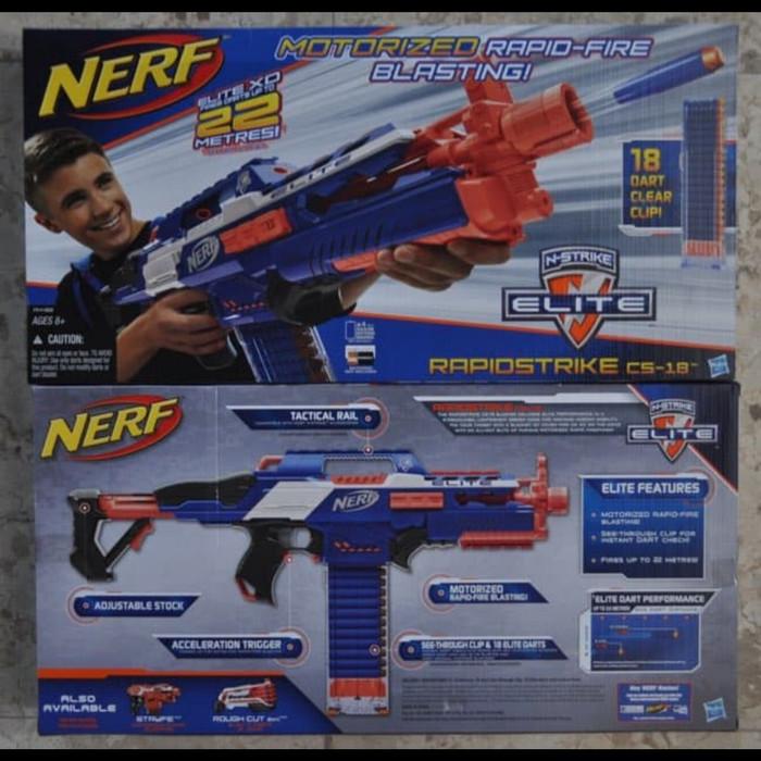 harga Nerf elite rapidstrike cs-18 /automatic Tokopedia.com