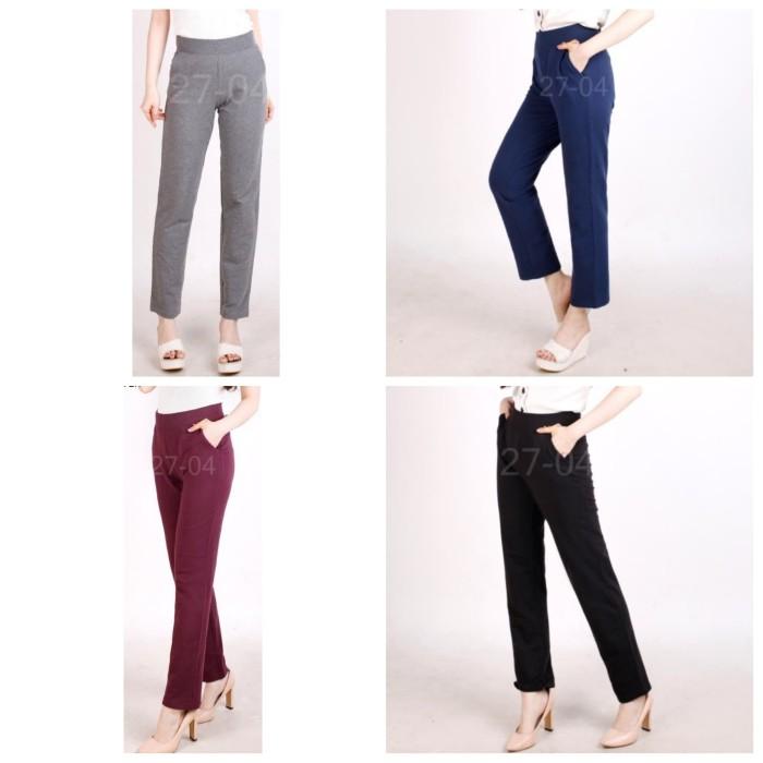 Foto Produk [CB] Celana Panjang Wanita Branded - TIME & TRUE Long Rlx Pants - Grey, S dari Calyn Shop
