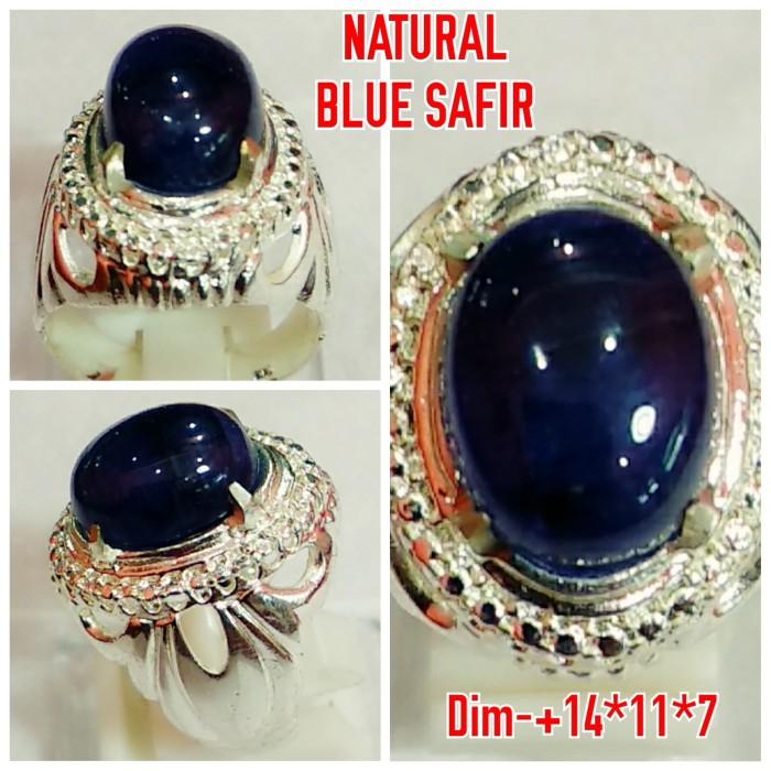 Foto Produk NATURAL BATU BLUE SAFIR FULL TEMBUS JAMINAN ASLI NATURAL dari arjuna cincin