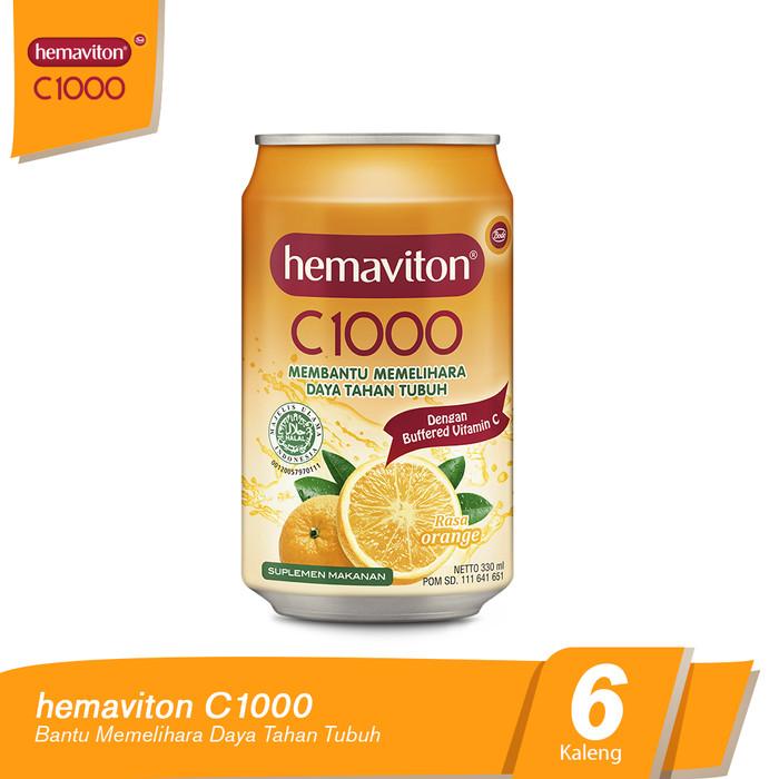 harga Hemaviton c1000 orange liquid kaleng minuman [330 ml/6 pcs] Tokopedia.com