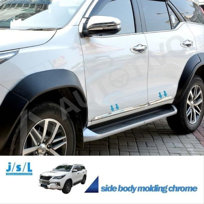 Jual All New Fortuner List Body Samping Jsl Side Body Moulding 2016 Garn Jakarta Utara Sytkz Tokopedia