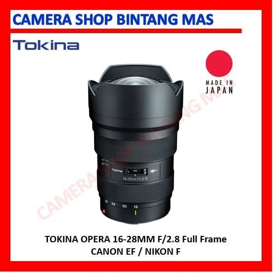 Foto Produk Tokina Opera 16-28mm F/2.8 Full Frame for Canon EF / Nikon F dari Camera Shop Bintang Mas