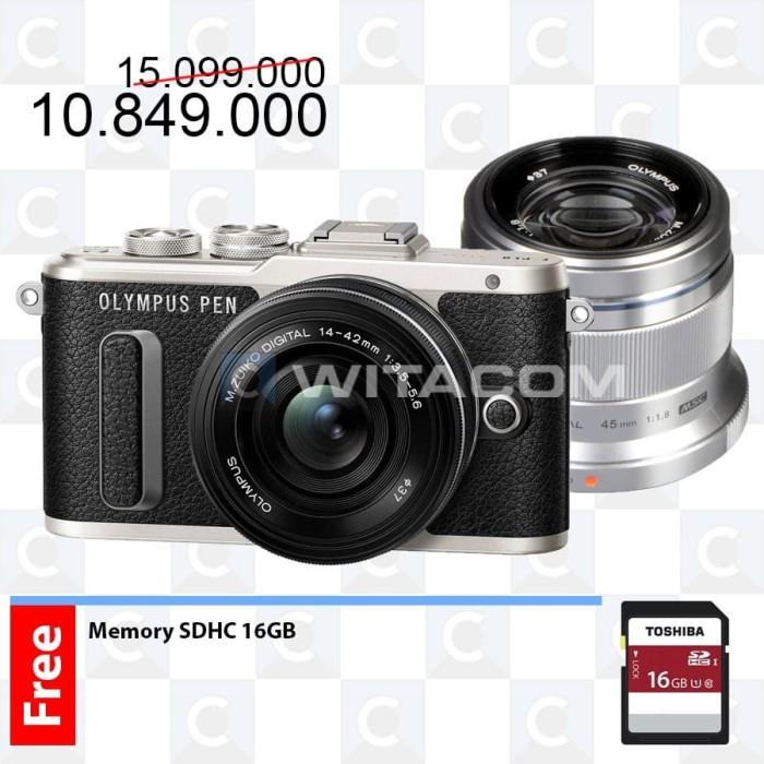 harga Olympus pen e-pl8 14-42mm + 45mm - black Tokopedia.com