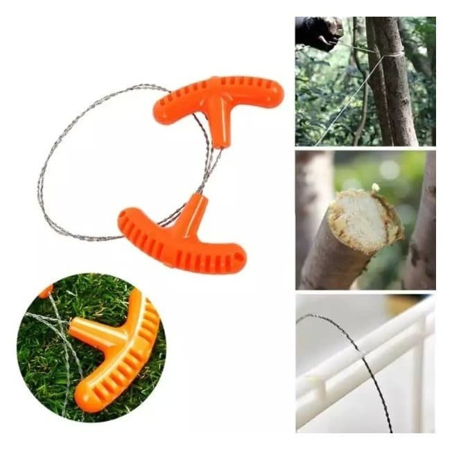 Foto Produk GERGAJI TANGAN SURVIVAL STAINLESS WIRE HAND CHAIN SAW OUTDOOR CAMPING dari DO OFFICIAL STORE