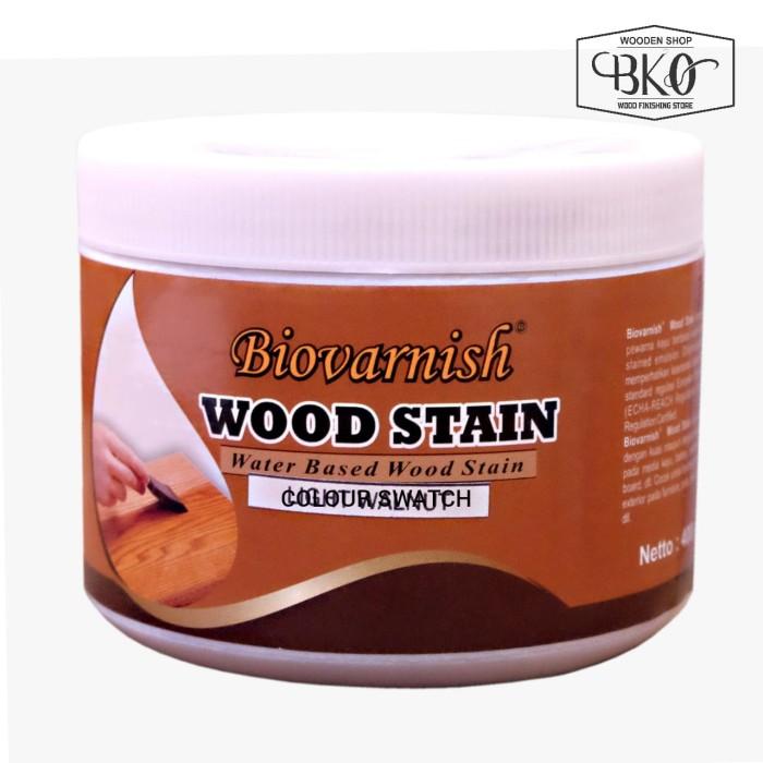 Foto Produk cat kayu woodstain cup 400gr waterbased biovarnish dari BKO Wooden shop