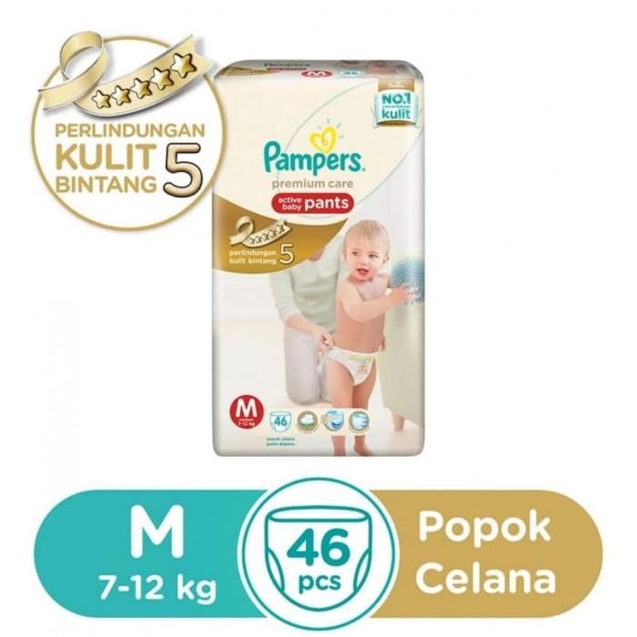 harga Pampers popok premium care active baby pants - m 46 Tokopedia.com