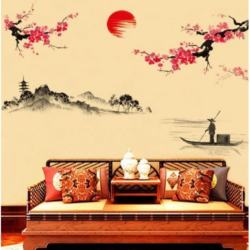 Stiker Dinding Wallpaper 60x90cm Motif Karakter Bunga Sakura Jepang Pe Sedia Wall Sticker Stiker Dinding 3d