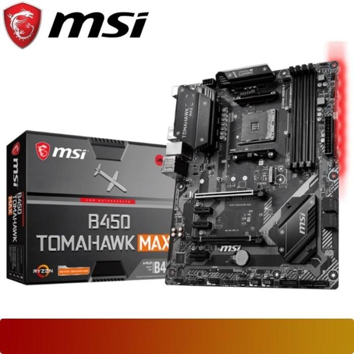 Foto Produk Motherboard MSI - B450 TOMAHAWK MAX Ryzen AM4 ATX Form Factor dari Nano Komputer