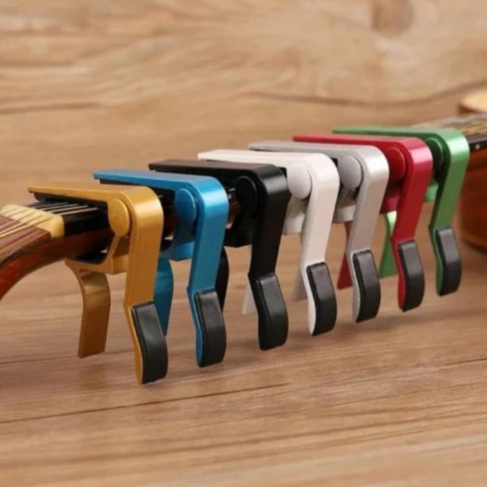 Foto Produk Capo Gitar Murah Bahan Aluminium Alloy Akustik Elektrik Nylon dari ShinpoStore