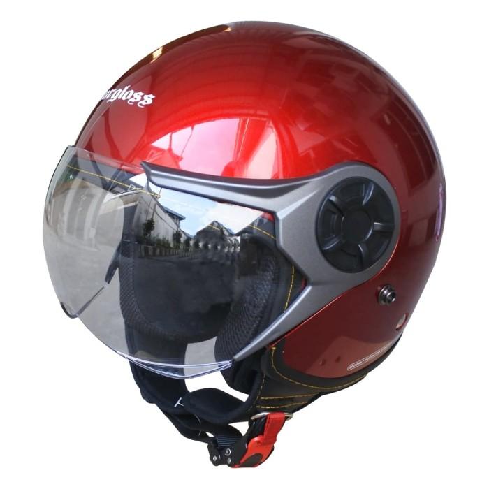 Foto Produk Cargloss YRM Micrometric Buckle, visor Hardcoat Halfface - Red Met - XL dari Helm Cargloss