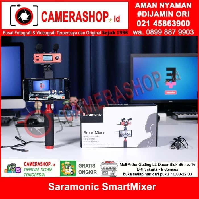 harga Saramonic smartmixer audio smart mixer for iphone &android Tokopedia.com