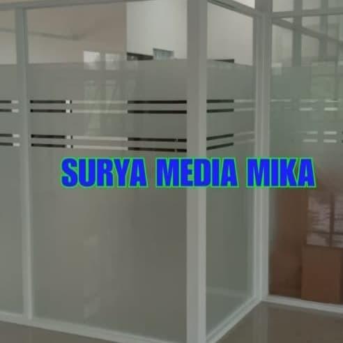 Foto Produk sticker kaca sandblast/Es Termurah /lebar bahan 120 cm dari Media Kreasi Art