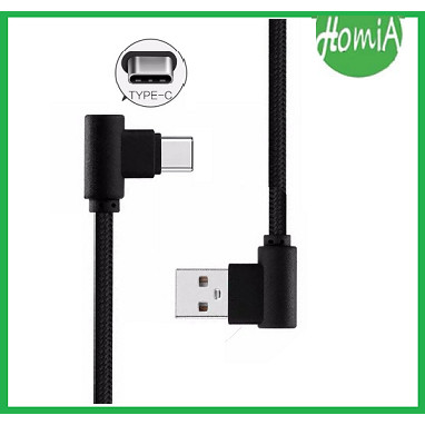 Foto Produk Kabel Data Charger Game L Type C 100 cm Kabel Gaming L Tipe C dari Homia