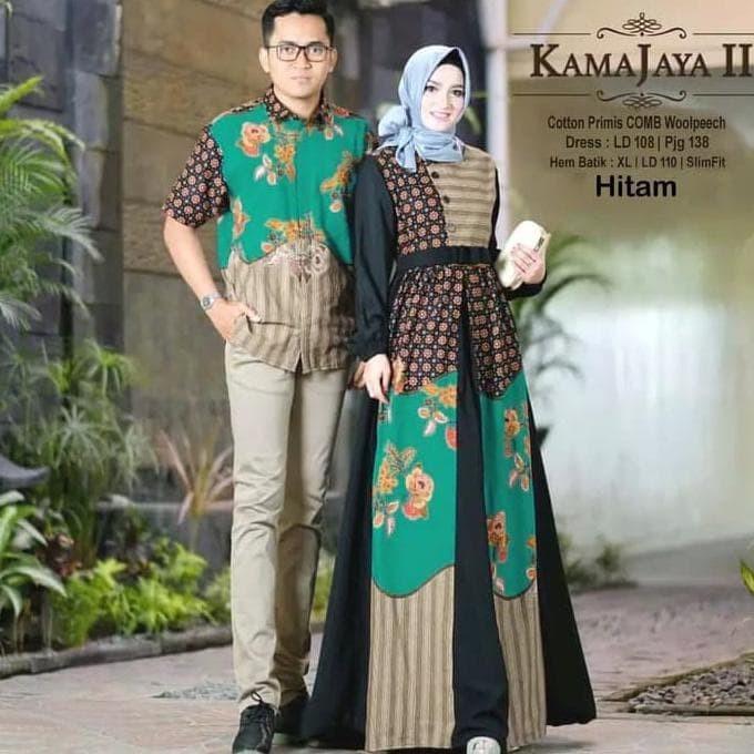 Jual Baju Pakaian Batik Couple Pria Wanita Muslim Casual Kekinian Terlaris Jakarta Barat Fafa 5 Tokopedia