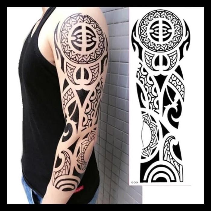 Jual Tato Tatto Temporary Tatto Full Lengan 17x46 Cm Tb011 Kab Bekasi Taniastore46 Tokopedia