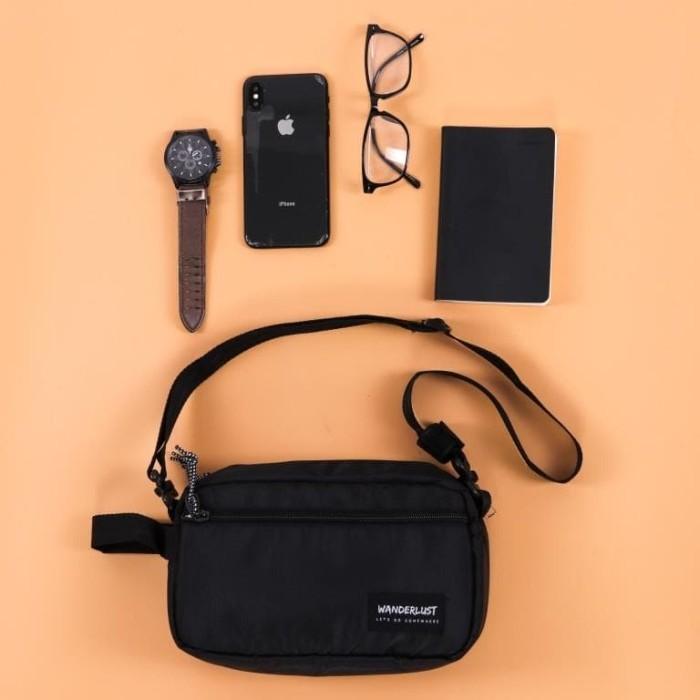 Foto Produk Geneva Black Wanderlust   Pouch Bag Handbag Clutch travel dari Wanderlustbag Official