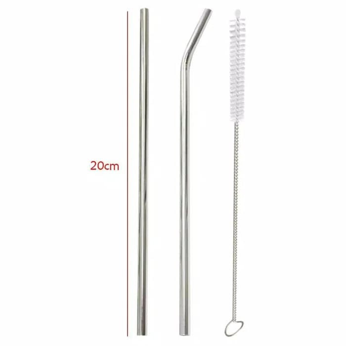 Foto Produk 3 Pcs Stainless Steel Straw Sedotan Stainless Go Green dari evencio shop