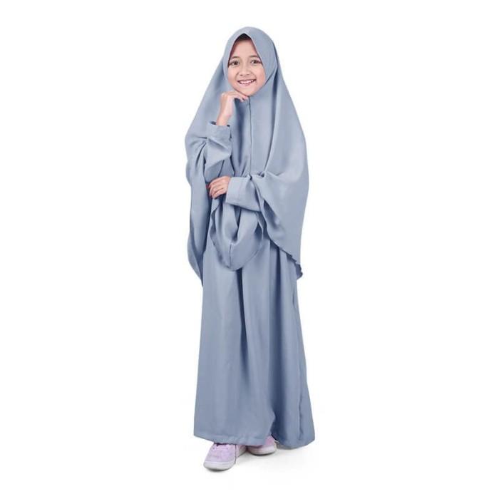 Foto Produk Bajuyuli - Baju Muslim Anak Perempuan Gamis Syar'i Polos Abu WSAA01 - XS dari Bajuyuli