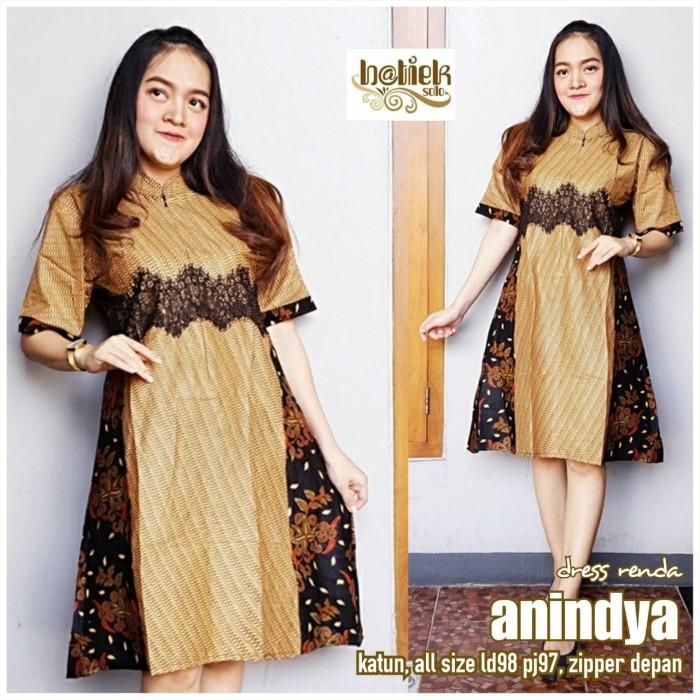 Jual Dress Renda Anindya Model Baju Batik Wanita Batik Kerja Kab Sukoharjo Batik Murah Online Tokopedia