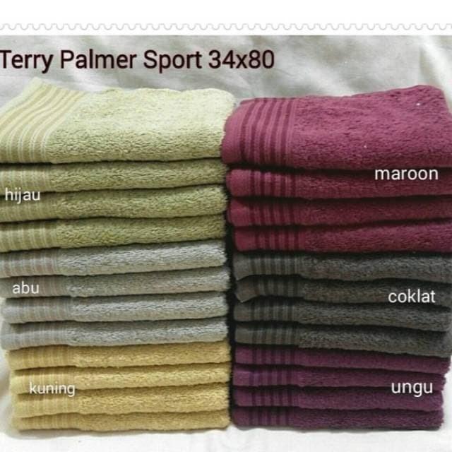 Foto Produk Handuk Sport Terry Palmer Eternal Polos B CLASS 34*80 LABEL DIGUNTING dari raishacollection