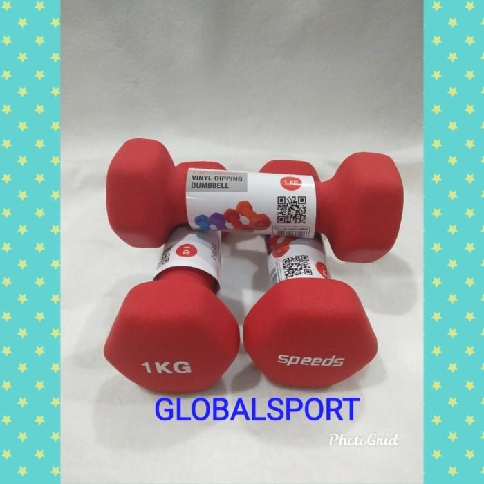 Foto Produk SATU SET ISI 2 ( SEPASANG ) DUMBLE 1 KG SPEEDS dari Globalsport