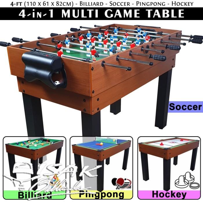 Foto Produk 4-in-1 Multi Game Table - Billiard Soccer Pingpong Hockey Meja Mainan dari ISAK Billiard Sport Co.