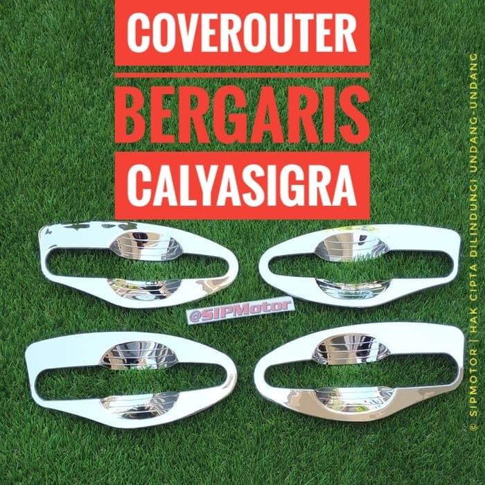 Foto Produk Cover Outer Calya Sigra Chrome Mangkok Bergaris dari SIPMotor