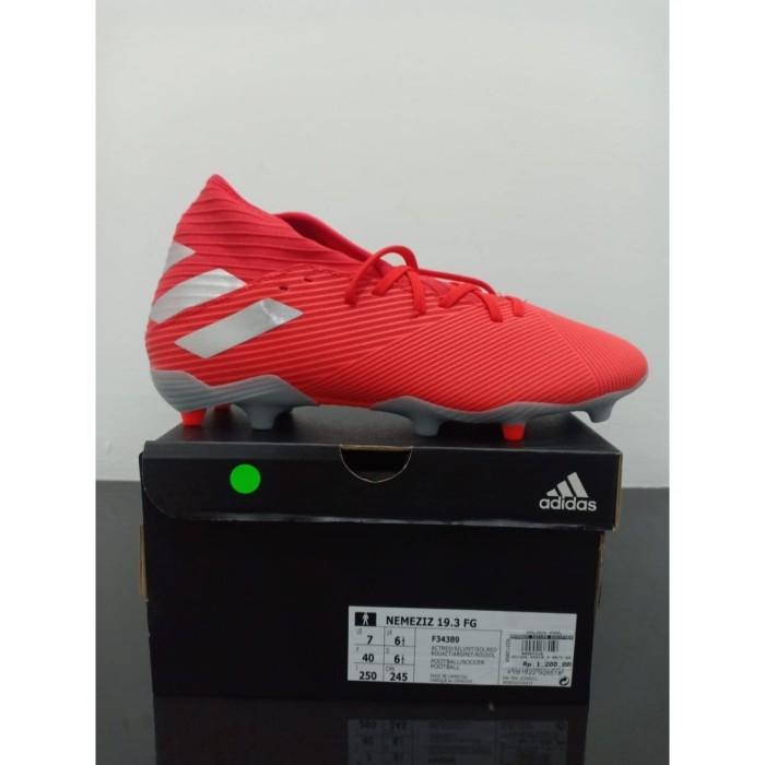 Jual Sepatu Bola Adidas Nemeziz 19 3 Fg F34389 Silver Red