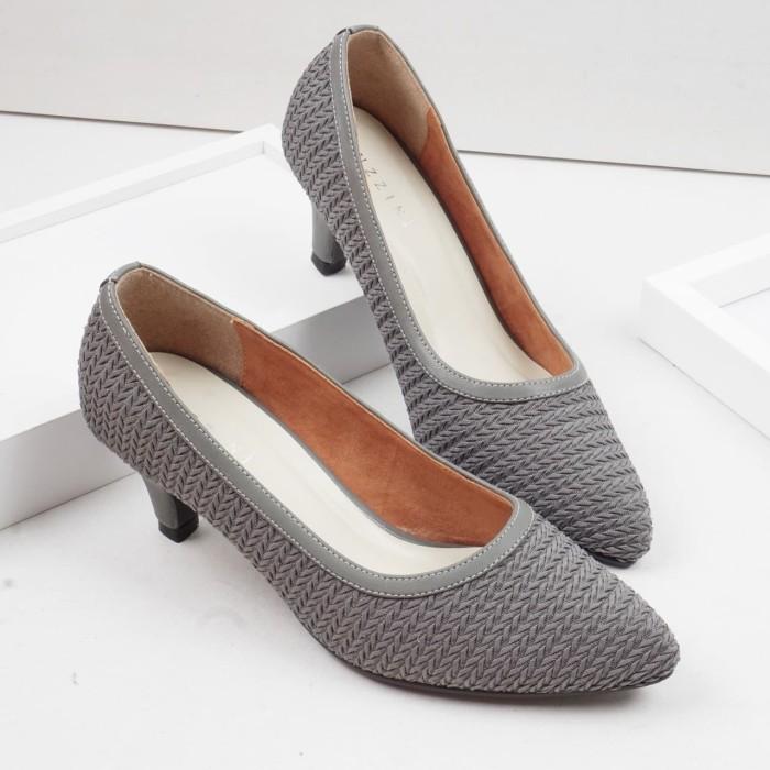 Foto Produk Guzzini MN 528 - Abu Sepatu Heels Rajut Klasik Wanita dari Guzzini
