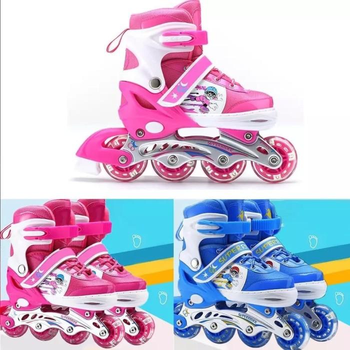 harga Sepatu roda anak / inline skate bisa roda bajaj Tokopedia.com