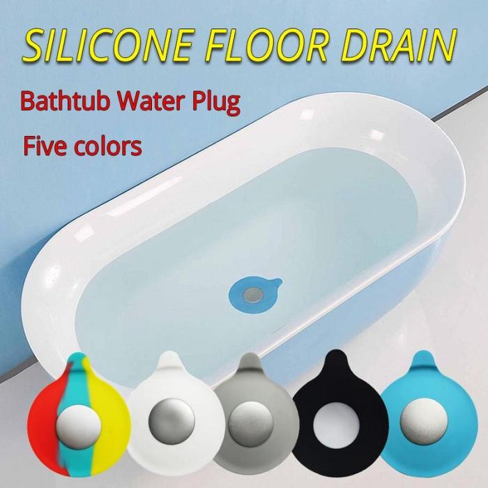 Silicone Floor Drain Mat Bathroom Deodorant Floor Drain Cover Non-slip Bathtub