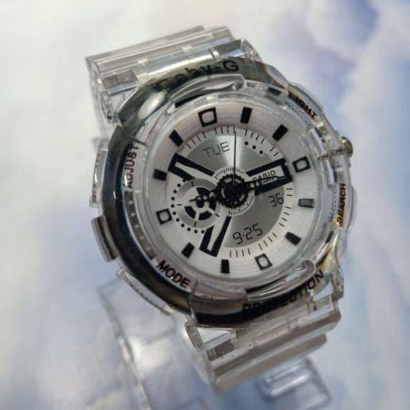Foto Produk Jam Tangan Wanita Baby-G D8 Transparan plat putih - Putih dari Mr 889