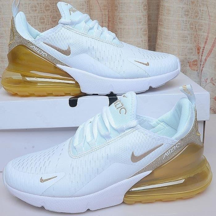 Jual Sepatu Nike Air max 270 White Gold Glitter Premium Original DKI Jakarta Tony Sneakers Tokopedia  Tokopedia