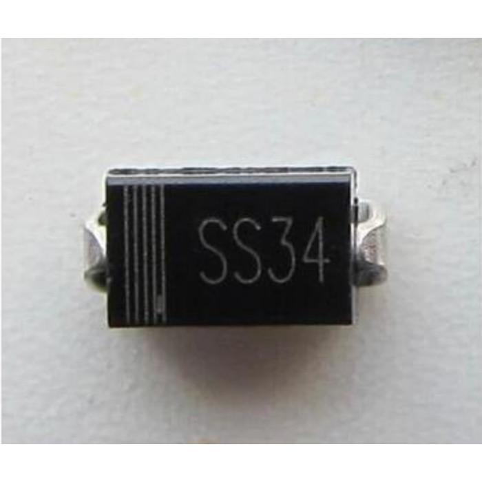 Foto Produk SS34 3A 40V Diode 1N5822 Dioda Schottky 3 A 40 V SMD DO-214AC dari Toko Aisyah24
