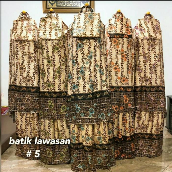 Foto Produk Mukena Dewasa Motif Batik Lawasan Ecer Grosir Katun Rayon By Aliyah dari AZKG Store
