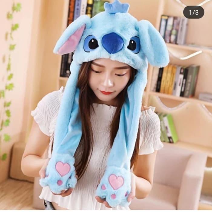 Jual Lilo Stitch Hat Tik tok - Unicorn Hat - Topi Bunny