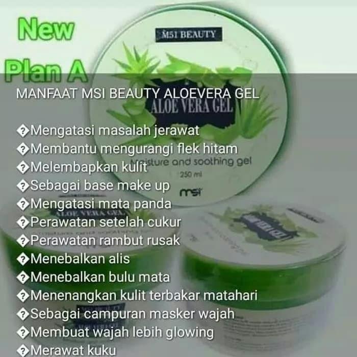 jual aloe vera gel msi beauty moisture soothing gel 250ml aloevera gel jakarta barat red ruby online tokopedia