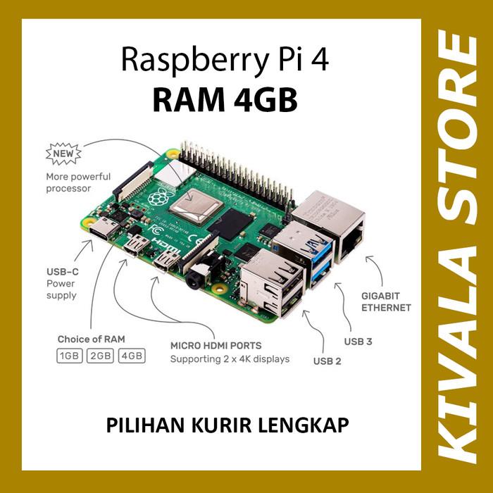 Foto Produk Raspberry Pi 4 Model B 4GB dari Kivala Store