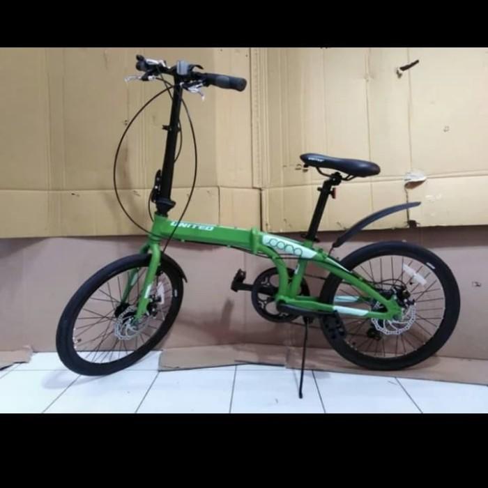 Jual sepeda lipat ukuran 20 United Cora 7 speed alloy rem