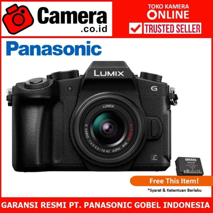 harga Panasonic lumix dmc-g85 kit 14-42mm f/3.5-5.6 ois - kamera mirrorless Tokopedia.com