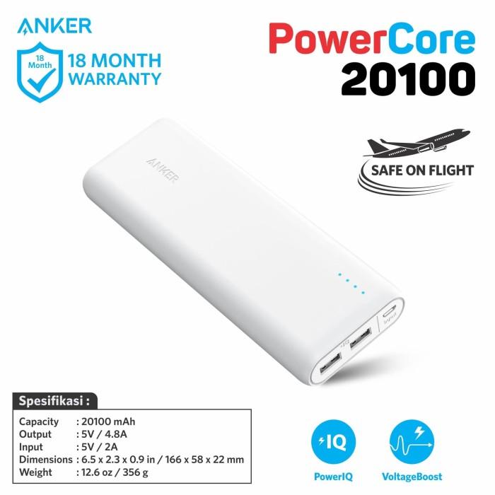 Anker powercore powerbank 20100 - white a1271