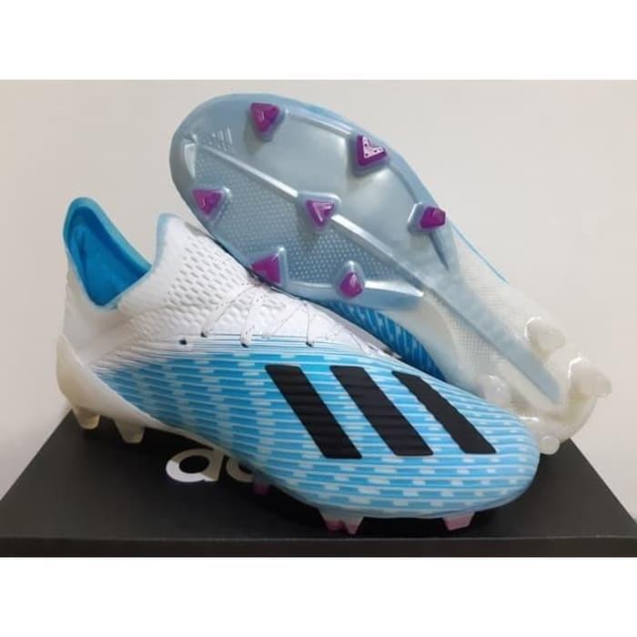 Jual Sepatu Bola Soccer Adidas X 19 1 Bright Cyan Black Pink