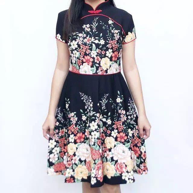Foto Produk Flowerish Cheongsam Dress Baju Wanita Imlek CNY Shirt 6094 dari co5co