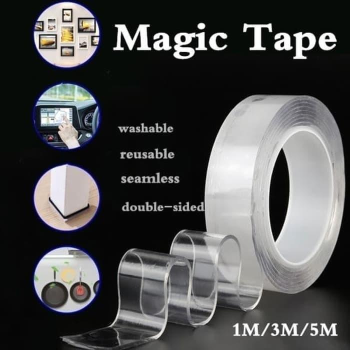 Foto Produk Double Tape Nano Gel Bening Tahan Air 3M x 30mm Super Kuat Bisa Cuci dari Best Accessories