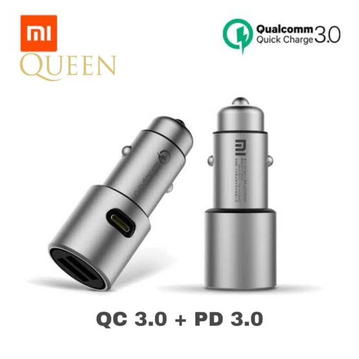 Foto Produk Xiaomi Car Charger Quick Charge 3.0 / Car Charger Xiaomi OriginaL dari Queen-accessories