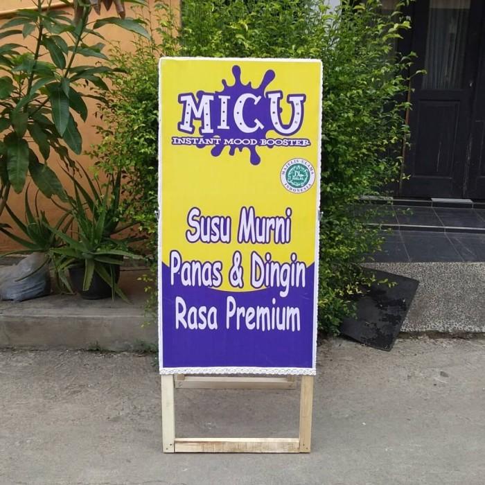 Jual Standing Banner Kayu Ukuran 130x50 Cm Papan Promosi Banner Outdoor Kota Bandung Etalase Malya Tokopedia